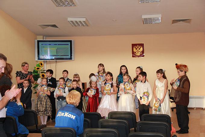 Новогодний детский концерт на предприятии
